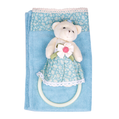 TERRY PALMER Hand Towel Microfiber Bear Small Flower - Blue/SBYY3176-MF-NBU