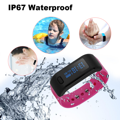 Excelvan OLED Smart Bracelet IP67 Waterproof Bluetooth 4.0 Smart Wristband for Android IOS