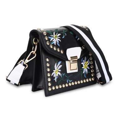 Guapabien National Style Embroidery Women Shoulder Bag