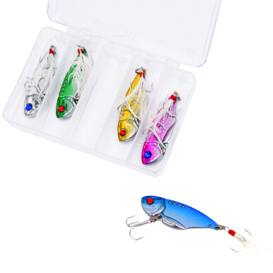 LEO Fishing Lure Shine Metal Alloy Peche Hard Lure Fishing Tackle Spinner Gear Bait