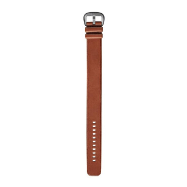 DIETRICH Straight, Leather Tan, Raw Edges And Stainless Steel Buckle