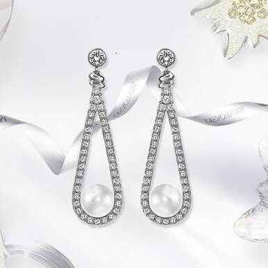 SWAROVSKI Enlace Pearls Pierced Earrings 5198690 Jewelry(Perhiasan)