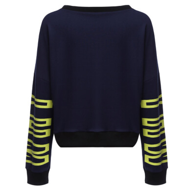 Casual Round Collar Long Sleeve Letter Print Loose Pullover Sports Sweatshirt for Ladies
