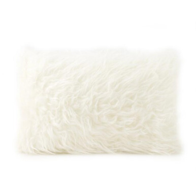 GLERRY HOME DÉCOR RWhite Fur Cushion - 30x50Cm