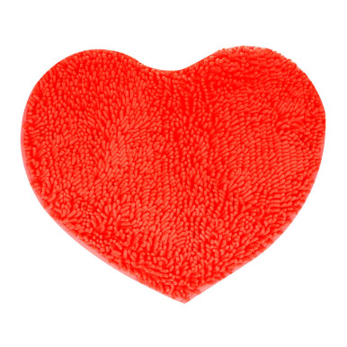 DURAMAT Microfiber Mat Heart - Pinkish Orange