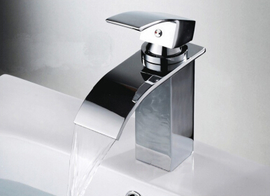 LANGFAN J4806 Waterfall Chorme Surface Hot & Cold Water Faucet