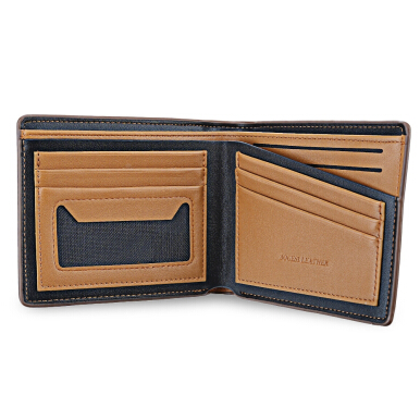 BOGESI Business Style Card Cash PU Leather Men Short Wallet HORIZONTAL