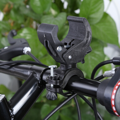 Bicycle Flashlight Frame Lamp Clip 90 Degree Rotation