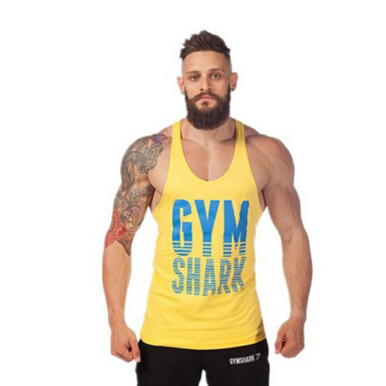 Fashion new men professional fitness loose sports vest