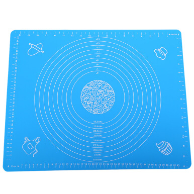 Silicone Baking Cake Dough Fondant Rolling Kneading Mat with Measures