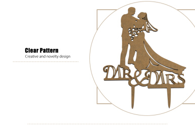 Mr Mrs Bride Groom Wedding Cake Topper Decoration for Party Anniversary