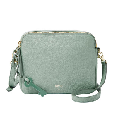 FOSSIL Preston Leather Crossbody Sea Glass Ladies [ZB5951-116]
