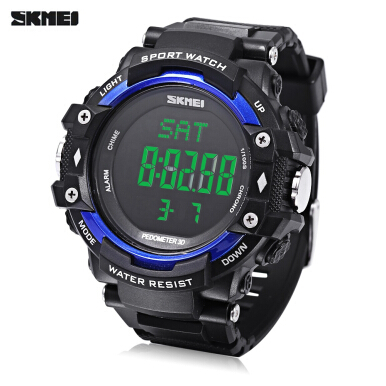 SKMEI 1180 Multifunctional Digital Watch Pedometer Heart Rate Monitor Date Day Display Wristwatch