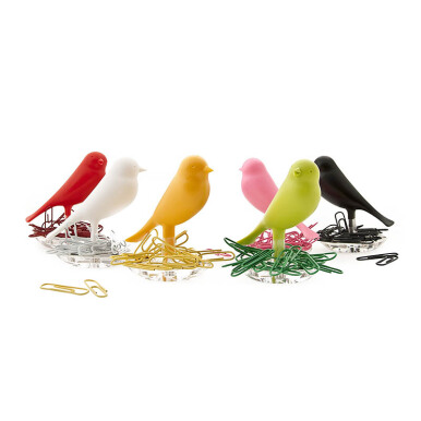 QUALY Paperclips Nest Sparrow - Green/QL10069GN