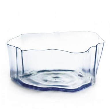 QUALY Crystal Flow Bowl - Clear/QL10164CL