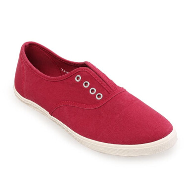 Minarno Women Red Laceless Sneakers - Red [36]