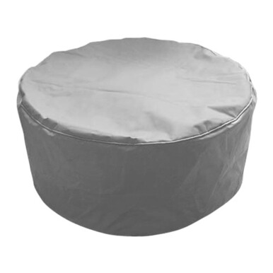 PRISSILIA Bean Bag Pouf Grey 36x80x80cm