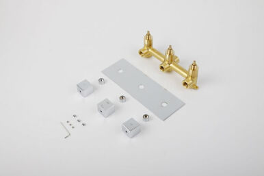 LANGFAN J1508 Valve Brass Hot & Cold Water Function Actuated Faucet Valve Bathroom Accessory