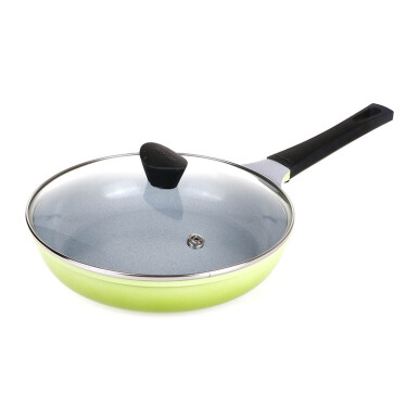 NEOFLAM Mitra Fry Pan 26Cm Glass Lid Marble - Green
