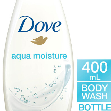 DOVE Body Wash Aqua Moisturizing Botol 400ml