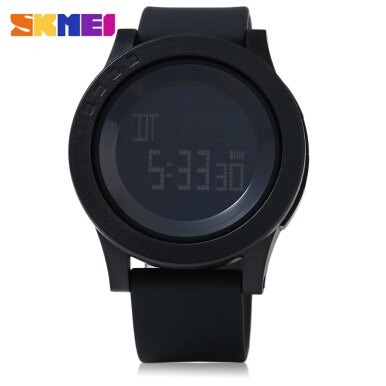 SKMEI 1142 Men Sport LED Digital Watch Water Resistance Running Wristwatch