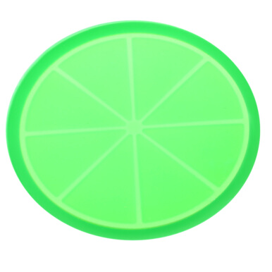 Colorful Jelly Fruit Shape Non-slip Silicone Insulation Cup Mat Pad-LEMON SHAPE
