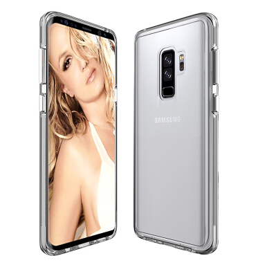 Smatton Ultra Thin Transparent Case Samsung Galaxy S9 Plus Fashion Protective Cover Soft TPU Anti Knock Soft Shockproof Shell Transparent