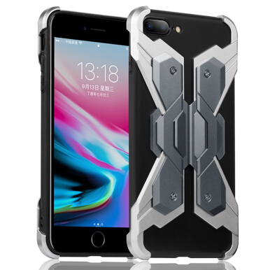 RockWolf iPhone 8 plus/8+ case Space aluminum new armor drop protection shell Black