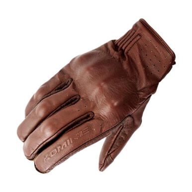 KOMINE GK-179 CE Protector Leather Gloves Sarung Tangan Motor - Brown Brown L