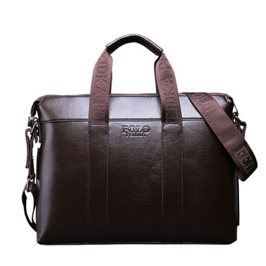 Mens Paper Briefcases Bags Men Briefcase Leather Laptop Tote Bags Business Mens Messenger Crossbody Bag fdk121-Brown