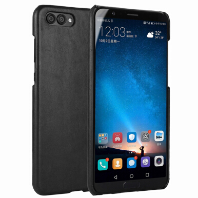 RockWolf Huawei glory V10 case Matte leather anti-fingerprint scratch-resistant phone protective shell black