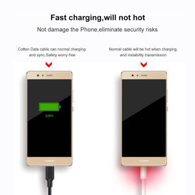 Keymao Type-C USB Cable QC2.0 Fast Charging 1M Nylon For Samsung Xiaomi OPPO VIVO LG Cable Data Sync For Android Device Black Black-1M--2.0Type-C-1Pack