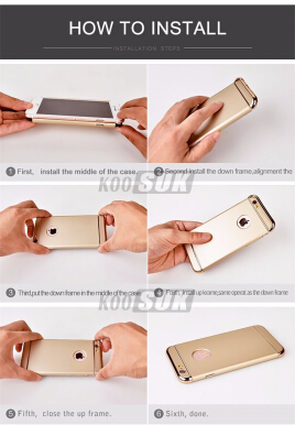 JEREFISH OPPO F3 Case Matte Metal 3 in 1 Electroplate Frame Cover for OPPO F3 Case Blue