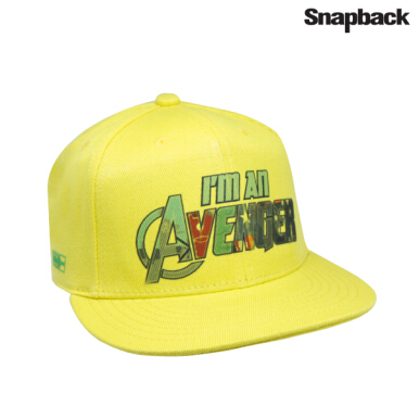 SNAPBACK Topi Hiphop Dewasa Marvel I am Avenger Yellow