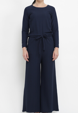 Shop at Banana Bianca Jumpsuit Navy Blue All Size