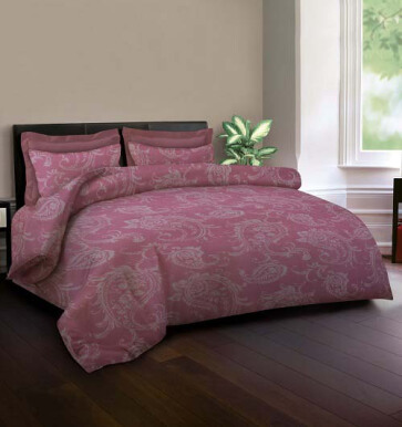 KING RABBIT Set Seprei Sarung Bantal Extra King Praha Pink/ 180x200x40 cm Pink