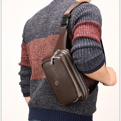 Men's Business Casual Bags Messenger Shoulder Bag Satchel Bag Pouch Fashion fdk5587-Brown