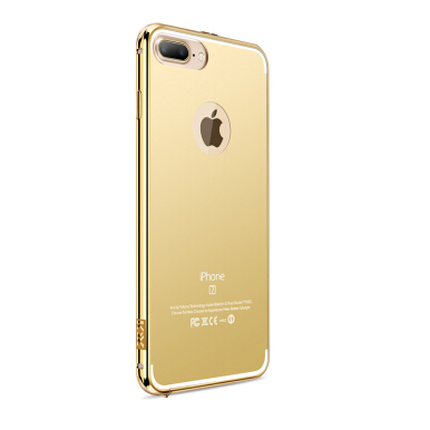 RockWolf iPhone 8 plus/8+ case Plating mirror acrylic pressure cell phone protective shell Gold
