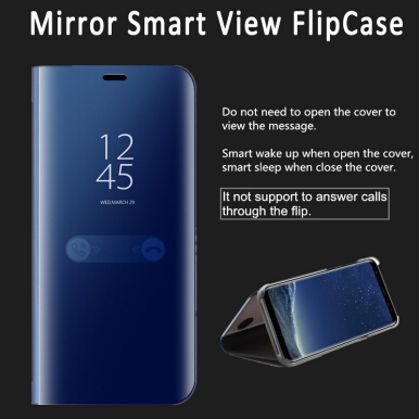 Smatton Case hp Huawei Nova Luxury Electroplated Flip stand Smart View Sleep Mirror Leather Hard Cover Case Shell Black