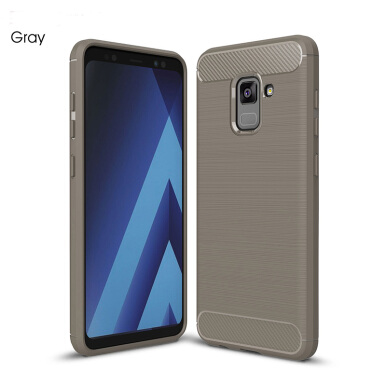 Keymao Samsung Galaxy A8 2018 case Soft TPU Silicon Full Protect Cover Case Grey