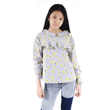 CURLY Blouse with Frill Eyelet Detail - LYB008B018B 10