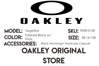 Oakley Sunglass Targetline|OO 9398-0158|Polished Black