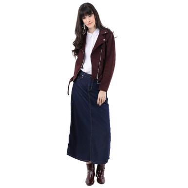 Mobile Power Ladies Basic Jeans Maxi Skirt - Denim I3544 Dark Blue S