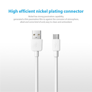 Xiaomi Type-C Data Cable 5V/2.4A Fast USB Charging Cables For Xiaomi mi 5 6 Mix2 1M White