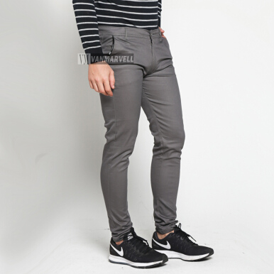 VM Celana Chino Panjang Stretch Slimfit Grey 27