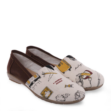 ANYOLORICH Ladies Flat Shoes B 75 - Brown - 36