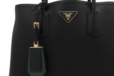 Prada Saffiano Cuir Double Bag 34cm