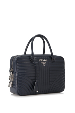Prada Soft Calf Impunture Diagramme Handbag 29cm