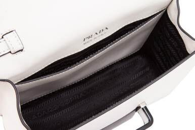 Prada City Calf Plex Ribbon Bag