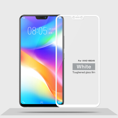 Keymao Vivo V9 Tempered Glass Screen Protector 2.5D 9H Hard White